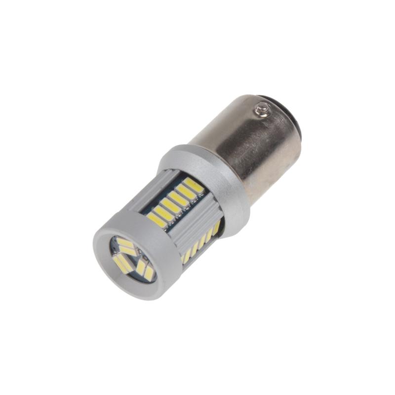 LED BAZ15d (dvouvlákno) bílá, 12-24V, 30LED/4014SMD