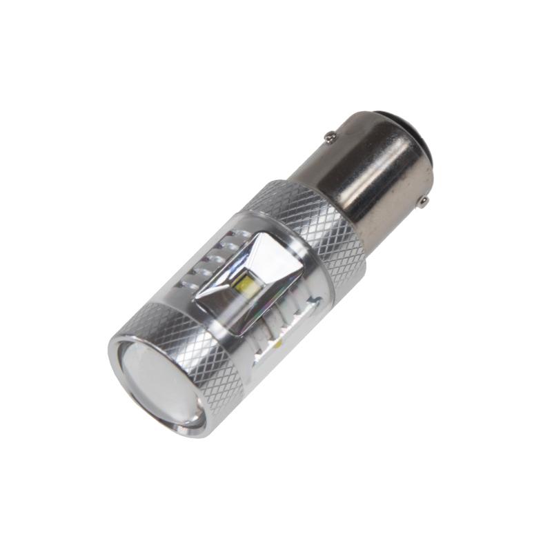 CREE LED BAZ15D 12-24V, 30W (6x5W) bílá