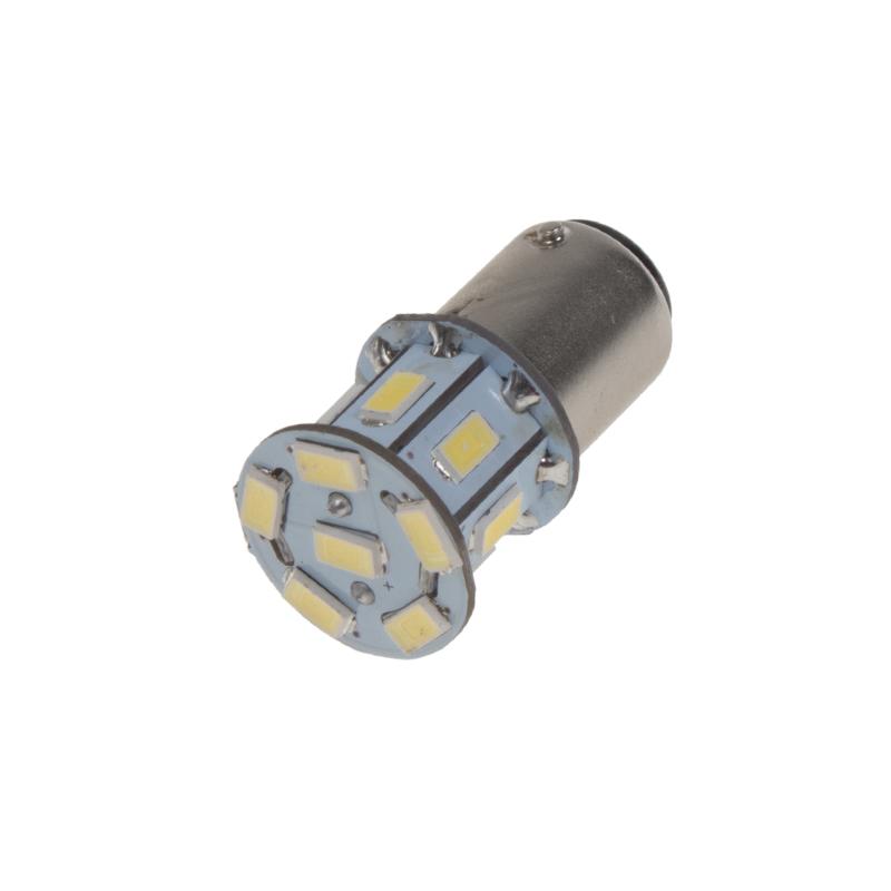 LED BA15d (jednovlákno) bílá, 12V, 13LED/5730SMD