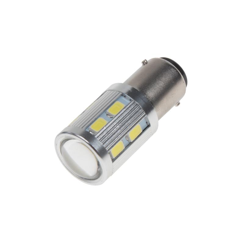 LED BA15d (jednovlákno) bílá, 12-24V, 16LED/5730SMD