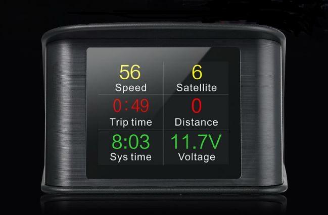 """Palubní DISPLEJ  2,6"""" LCD, GPS měřič rychlosti"""
