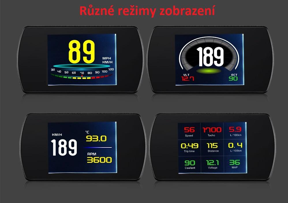 """Palubní DISPLEJ  3"""" LCD, OBDII, FULL"""