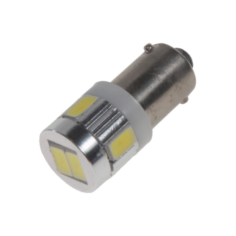 LED BA9s bílá, 12V, 6LED/5630SMD