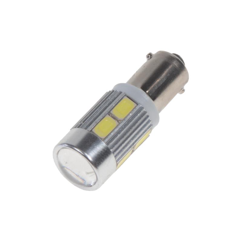 LED BA9s bílá, 12-24V, 10LED/5730SMD