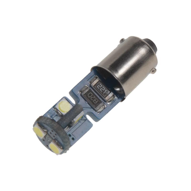 LED BA9s bílá, 12V, 6LED/3030SMD