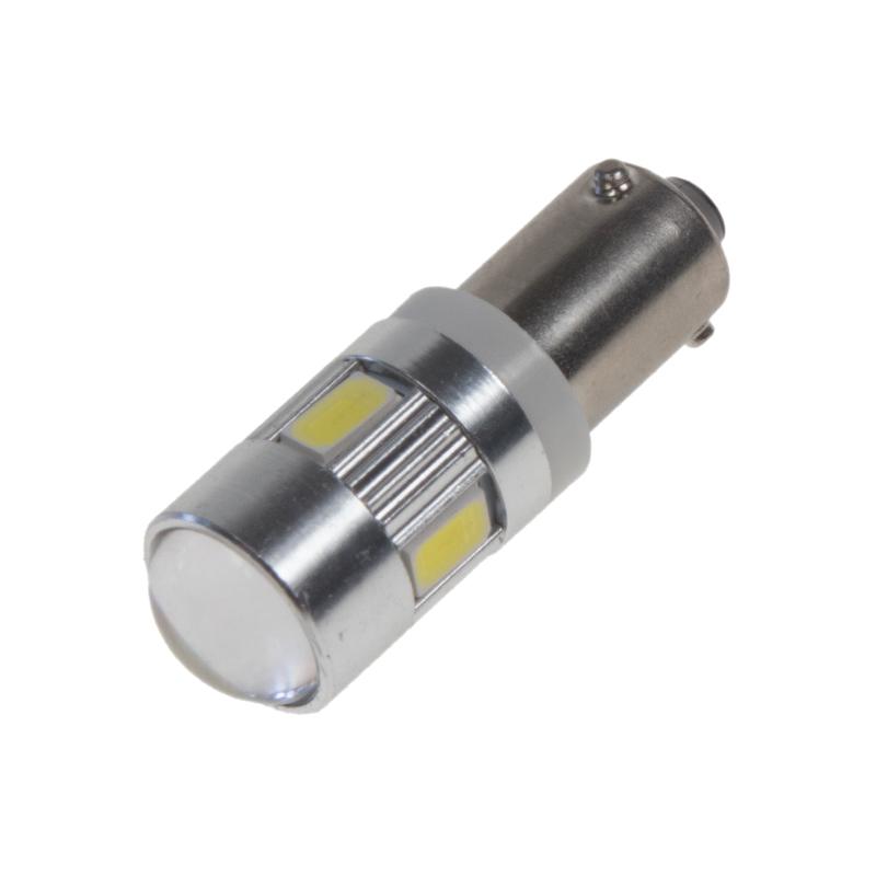 LED BAX9s bílá, 12-24V, 6LED/5730SMD