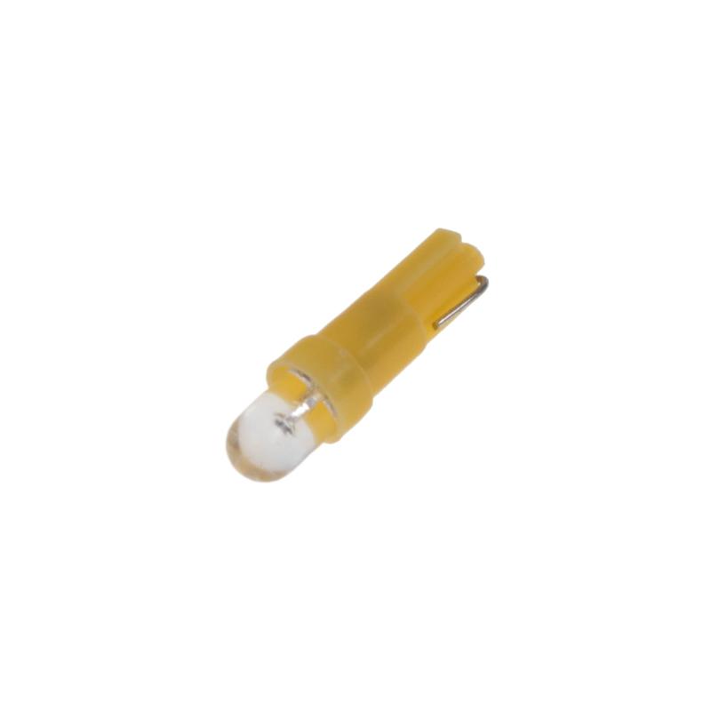 LED T5 žlutá, 12V, 1LED
