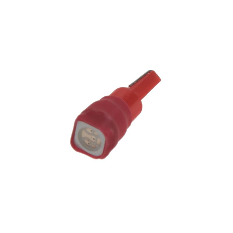LED T5 červená, 12V, 1LED/3SMD