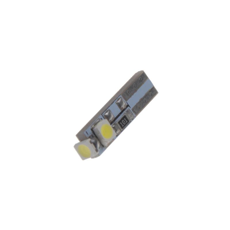 LED T5 bílá, 12V, 3LED/SMD
