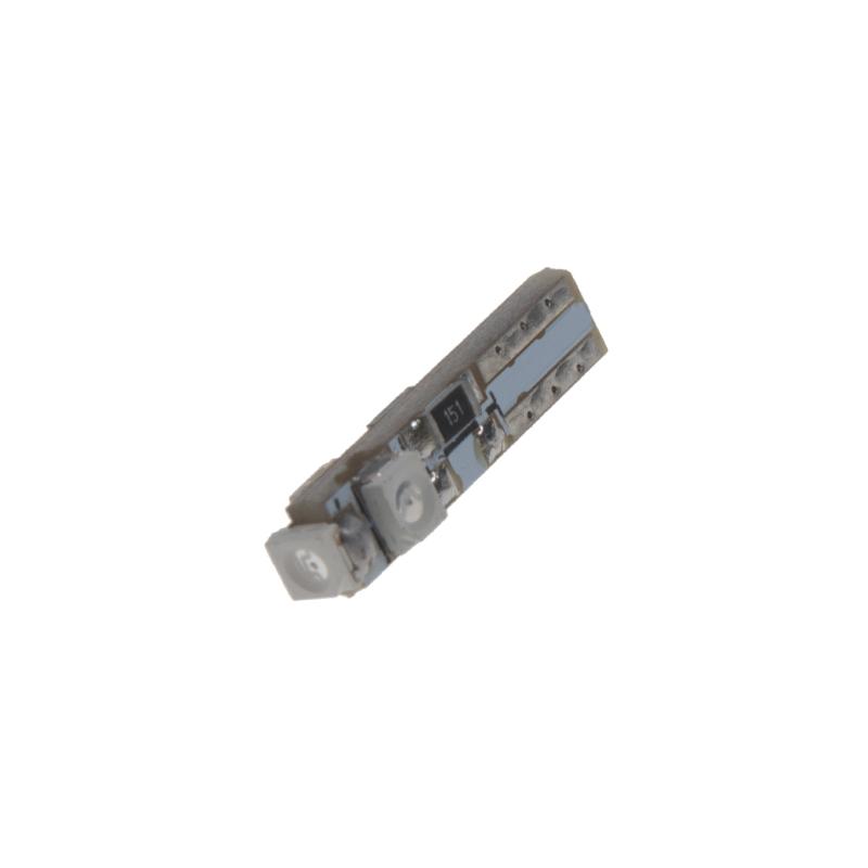 LED T5 modrá, 12V, 3LED/SMD